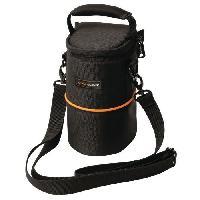 Sac A Dos - Sac Photo - Optique CL-OB10 Sac pour Objectif 90 x 150 x 70 mm - NoirOrange