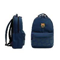 Sac A Dos FC BARCELONE Sac a Dos - 2 compartiments - Primaire - College - 43 cm - Bleu et noir - Enfant Garcon