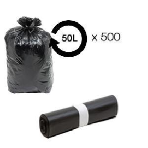 Sac Poubelle - Sac Plastique 500 Sacs poubelle noir 50L 14 microns - MID