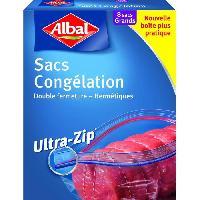 Sac Poubelle - Sac Plastique Boite de 8 sacs Ultra Zip - 33 x 38 cm - GM