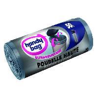 Sac Poubelle - Sac Plastique Rouleau de 10 sacs a poignees coulissantes - 50 L - 47 x 85 cm - Ultra resistants et fixation elastique