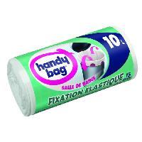 Sac Poubelle - Sac Plastique Rouleau de 15 sacs pour salle de bains - 10 L - 40 x 40 cm - Fixation elastique