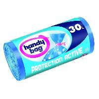 Sac Poubelle - Sac Plastique Rouleau de 20 sacs Protection Active - 30 L - 50 x 70 cm