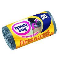 Sac Poubelle - Sac Plastique Sacs poubelle Poignees Coulissantes 50L