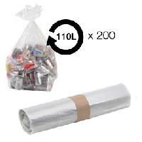 Sac Poubelle - Sac Plastique Sacs poubelle transparent 110L 36 microns BD -carton de 200-