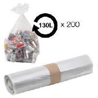 Sac Poubelle - Sac Plastique Sacs poubelle transparent 130L 38 microns BD -carton de 200-