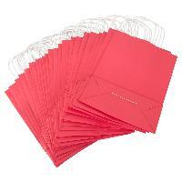 Sac Shopping 25 Sacs en papier rouge - 24 x 11 x 32 cm - LRDP