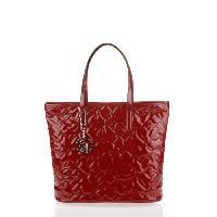 Sac Shopping Sac Cabas en Vinyl Matelasse Rouge - Femme