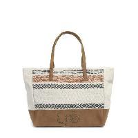 Sac Shopping WOMAN - Sac Cabas Bi-matiere Imprime Bhopal - Femme