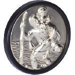 Saint Christophe rond luxe - 3cm - Adhesif - ADNAuto