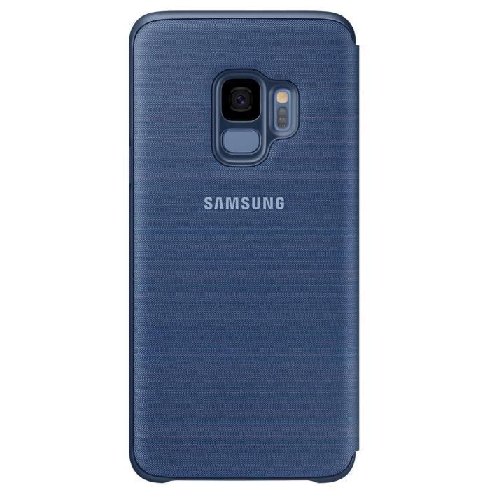 Samsung-LED-View-Cover-S9-Bleu miniature 2