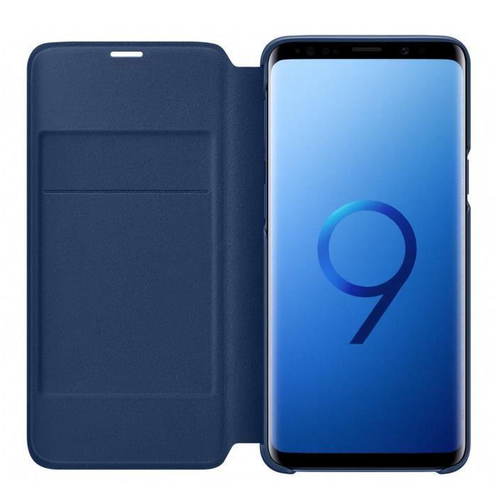 Samsung-LED-View-Cover-S9-Bleu miniature 5