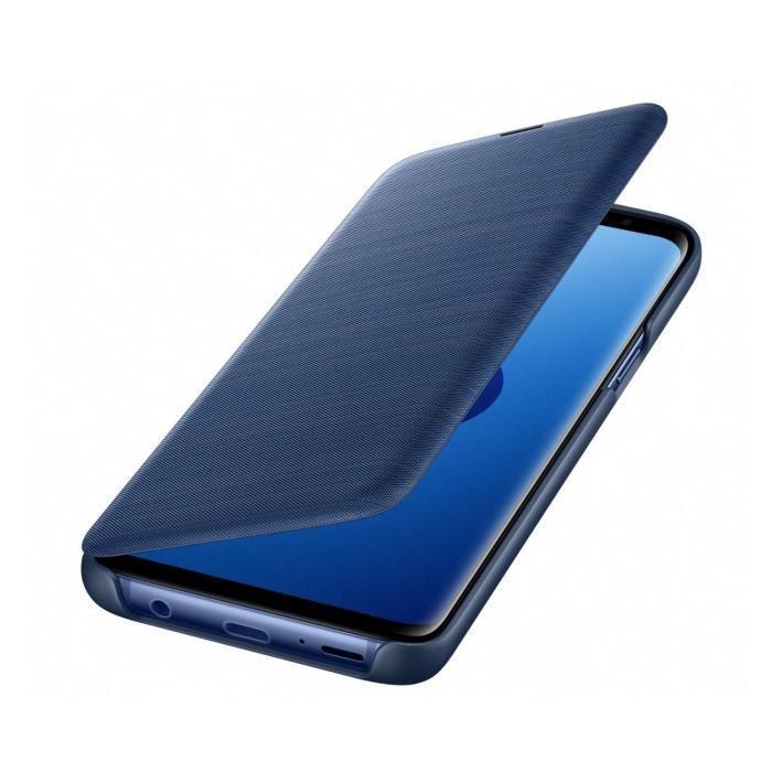 Samsung-LED-View-Cover-S9-Bleu miniature 3
