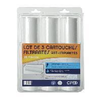Sanitaire - Plomberie CPED Lot de 3 cartouches antiimpuretés Pilotéphos extrudées 25µ Cped (centre Pilote Eau Douce)