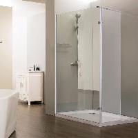 Sanitaire - Plomberie CREAZUR Paroi de douche italienne fixe + Retour pivotant 40 cm Calypso - 100 + 40 cm - Verre trempé 8 mm