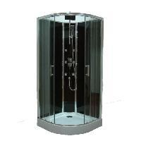 Sanitaire - Plomberie + Cabine de douche Hydromassante Selia 14 cercle 90x90 cm