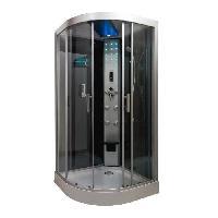 Sanitaire - Plomberie Cabine de douche hydromassante Skadi 14 cercle 100 cm - Montage sans silicone