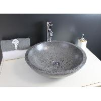 Sanitaire - Plomberie Vasque en terrazzo Petra gris Aqua+