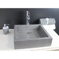 Sanitaire - Plomberie Vasque en terrazzo Timbre 40x40cm gris - Aqua+