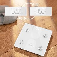 Sante - Hygiene EUFY T9146H21 - Balance connectée digitale - Bluetooth - 12 mesures - Jusque 16 utilisateurs - Blanc