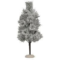 Sapin De Noel - Arbre De Noel Decor de Noel Pin Alaska XL - Plastique - 30.5xO13 cm - Blanc