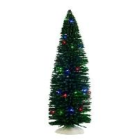 Sapin De Noel - Arbre De Noel Decor de Noel Sapin eclaire multicolore a pile - 30xO10.5 cm - Vert - 2 piles AA non fournies