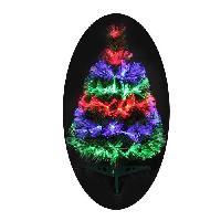 Sapin De Noel - Arbre De Noel Sapin de Noel artificiel Fibre optique Las Vegas - 55 LED - 55 branches - 60 cm