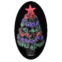 Sapin De Noel - Arbre De Noel Sapin de Noel artificiel Nashville Floque - 68 LED - 55 branches - A? 35 x H 60 cm