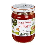 Sauce Chaude Sauce Tomate au Thym Bio 240g