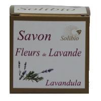 Savon - Pain De Savon - Syndets SOLIBIO Savonnette - Fleur de lavande - Bio - 100 g