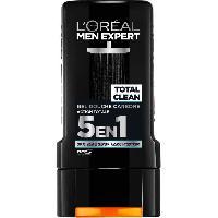 Savon - Shampoing - Bain Moussant - Huile De Bain L'Oréal Men Expert Total Clean Gel Douche 5 En 1 Pour Homme - 300 ml - L'oreal