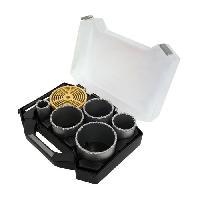 Scie Trepan - Scie Cloche Mallette 7 pieces trepans o 33-83 mm pour carbure. brique et faience