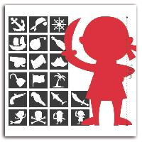 Scrapbooking D.I.Y WITH TOGA 20 Pochoirs Deco Pirate - 9cm