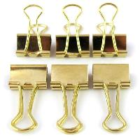 Scrapbooking D.I.Y WITH TOGA 6 Moyennes Pinces Clips Or