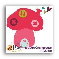 Scrapbooking Die Maison Champignon - Rose et rouge