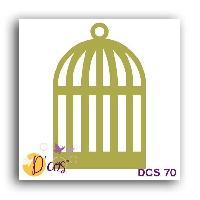 Scrapbooking LES D'COS DE TOGA Die Cage - Doré