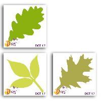 Scrapbooking LES D'COS DE TOGA Pack de 3 Dies Trio de feuilles