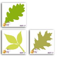Scrapbooking Pack de 3 Dies Trio de feuilles