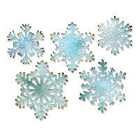 Scrapbooking SIZZIX Matrice de découpe Thinlits Set 5 pieces - Flocons de neige
