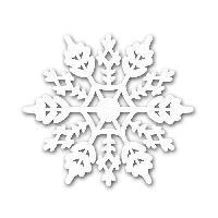 Scrapbooking TOGA L'or De Bombay Assortiment de 12 formes découpées - Motif Flocons - Blanc