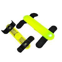 Securite - Protection Bande Led lumineuse jaune avec velcro pour chien