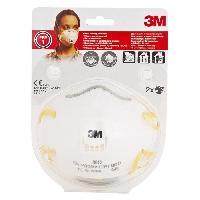 Securite - Protection Chantier 3M 2 masques respiratoires filtrant coque 8812 FFP1 - Avec soupape
