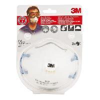 Securite - Protection Chantier 3 masques respiratoires filtrant coque 8822 FFP2 - Avec soupape