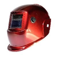 Securite - Protection Chantier AWELCO Cagoule de soudure LCD rouge a teinte variable 9-13 - adaptee au soudage MAG MIG MMA PLASMA et TIG