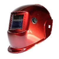 Securite - Protection Chantier AWELCO Cagoule de soudure LCD rouge a teinte variable 9/13 - adaptée au soudage MAG MIG MMA PLASMA et TIG