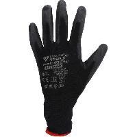 Securite - Protection Chantier BRILLIANT Gant maille fine MICRO - Noirs. 12 paires 9