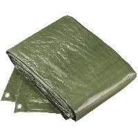 Securite - Protection Chantier CONFLOR Bâche de protection polyethylene vert avec oeillets 2 x 3 m - Generique