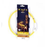 Securite - Protection DUVO Anneau Lumineux Seecurity Flash Light Ring USB Nylon - 65 cm - Jaune - Pour chien