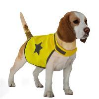 Securite - Protection DUVO Gilet de securite reflechissant - 48 cm - Jaune fluo - Pour chien
