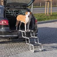 Securite - Protection Escalier repliable Petwalk aluminium largeur 37cm hauteur jusqu'a 57cm profondeur jusqu'a 120cm Trixie